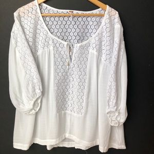 FREE PEOPLE oversized boho top